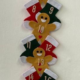 Calendario dell'avvento biscotti