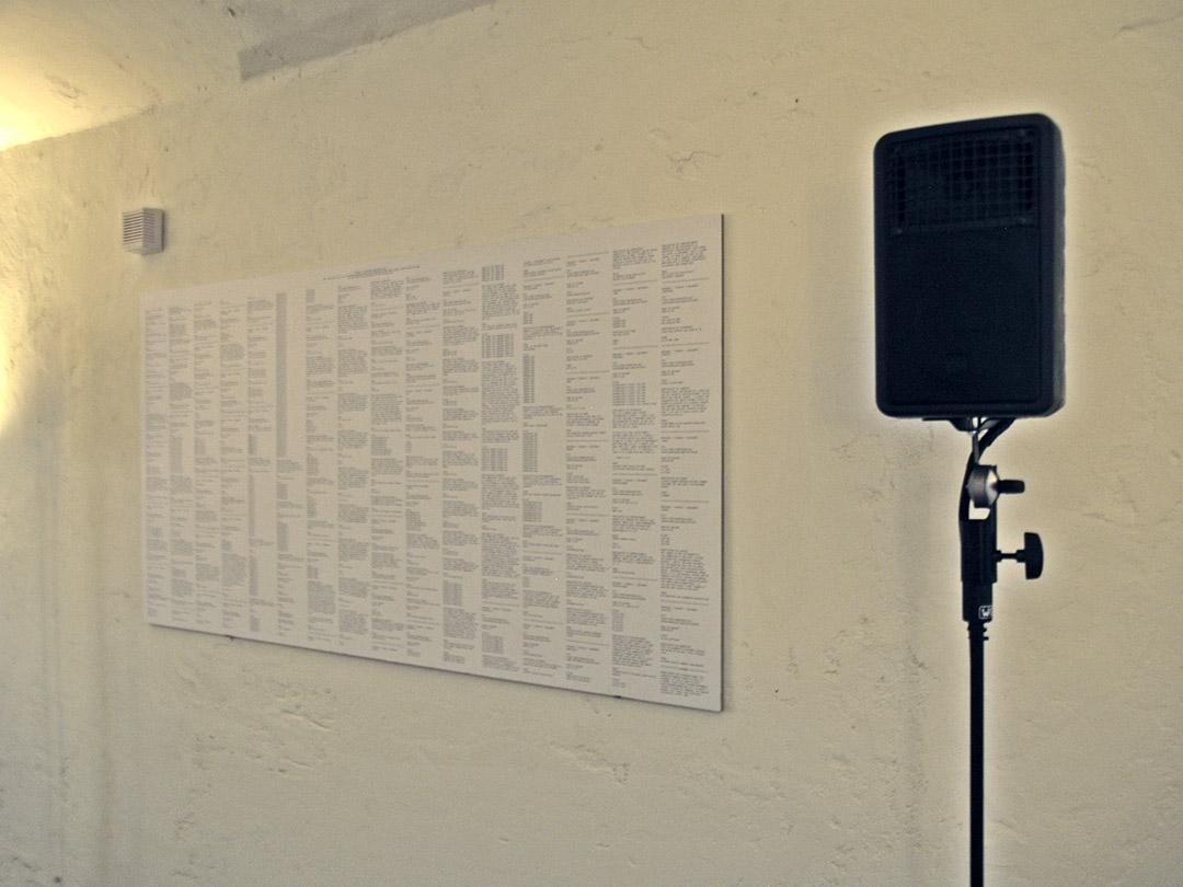 TUNING IN (2011) Multichannel sound installation by Tao G. Vrhovec Sambolec