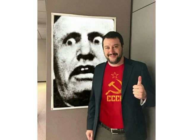"""Il """"compagno Salvini"""": """"Torna il Fascismo? Esagerati"""""""