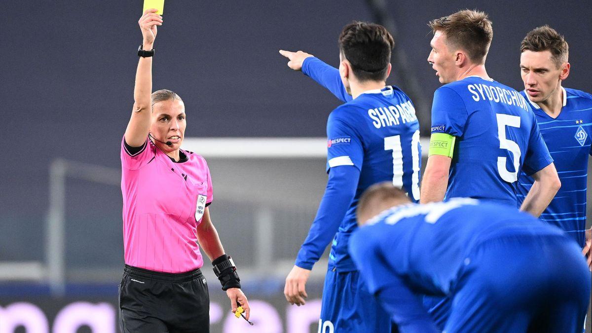 I pitagorici scendono in campo con Stéphanie Frappart per arbitrare Juve vs Dinamo Kiev