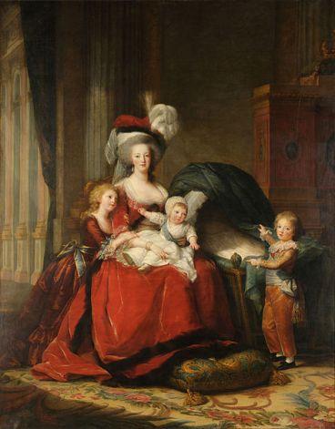 Dipinto che ritrae Maria Antonietta di Élisabeth Vigée Le Brun (Wikipedia)