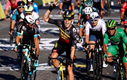 Tour de France. Van Aert primo sui Champs Elysees. Pogacar vince la Grande Boucle