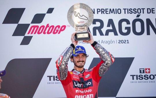 MotoGP. Ad Aragona la prima vittoria di Bagnaia su Ducati