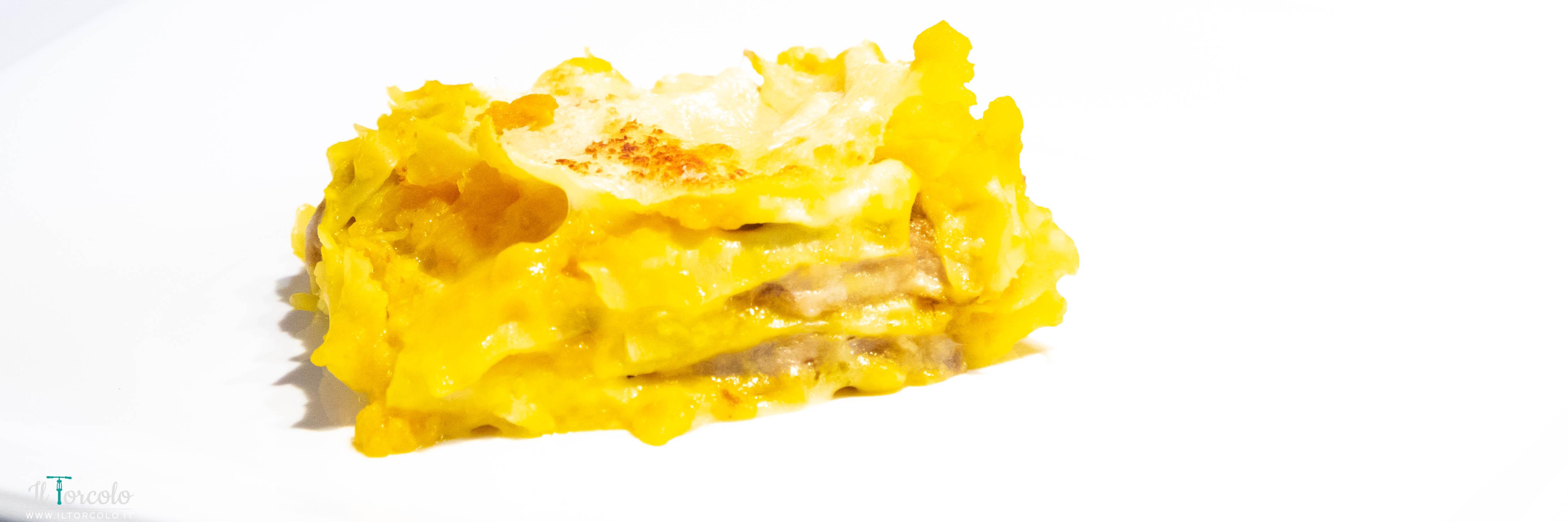 Lasagna zucca, porcini e taleggio