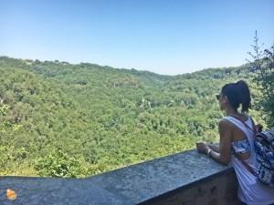 Panorama Calcata su Parco del Treja