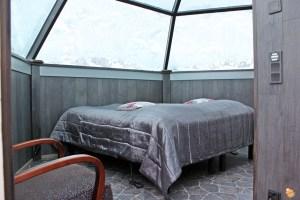 Interno igloo di vetro Lapponia