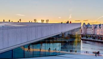 Panorama di Oslo da Opera