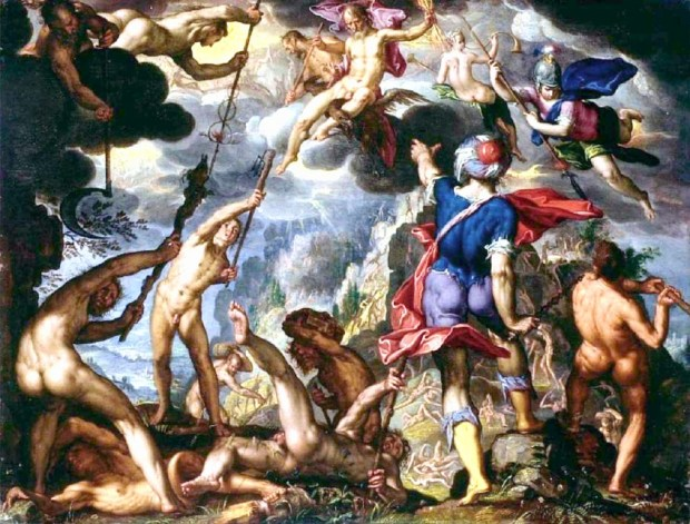 Joachim Wtewael the-battle-between-the-gods-and-the-titans-1600