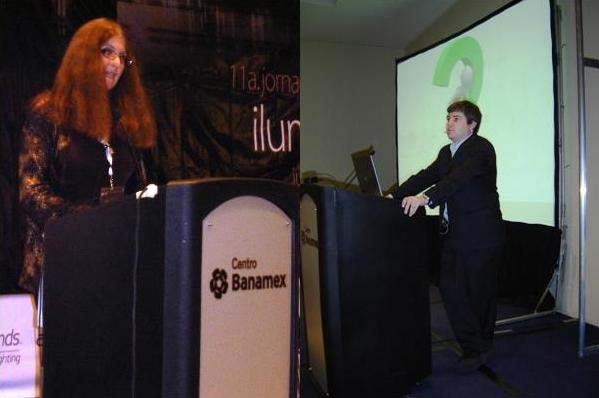 Katherine Abernathy y Daniel Treviño