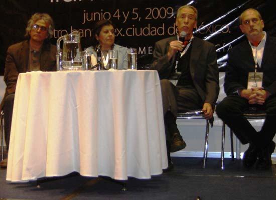 Gustavo Avilés, Cristina Maluf, Fred Oberkircher y Jeff Miller