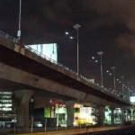 Alumbrado ecológico en el viaducto elevado periférico norte