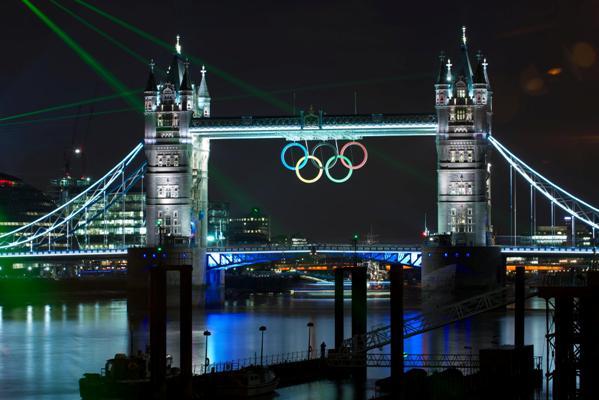 Puente de Londres Aros Olímpicos
