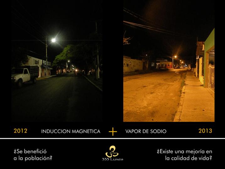 COMPARATIVA LUMINARIO Mérida