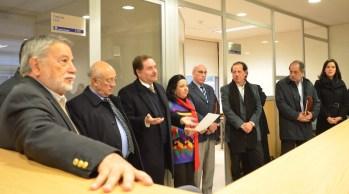 Autoridades del Posgrado de Arquitectura en el inicio de actividades de la especialidad
