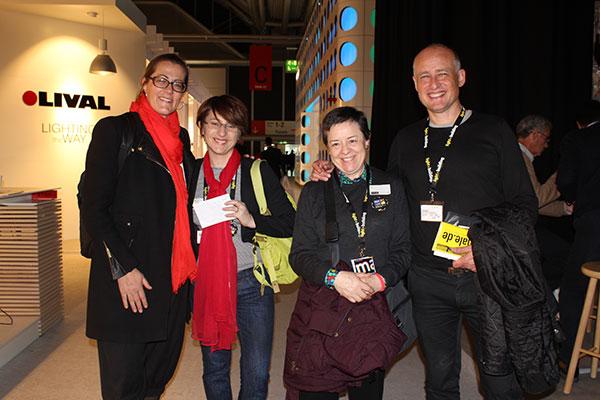 Birgit Walter, Anne Bureau, Raquel Puente e Ignacio Valero