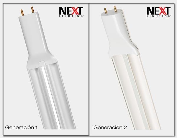 Comparación de generaciones de Next Lamp