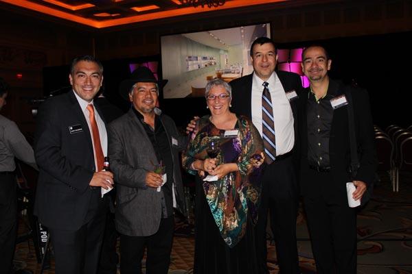 Rudy C, Elías Cisneros, Barbara Horton, Antonio Garza y Luis López