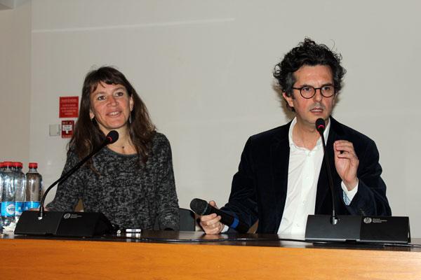 Sandra Iturriaga y Douglas Leonard.