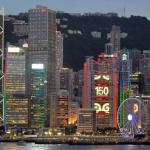 Monumentales pantallas semitransparentes, sólo en Hong Kong