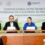 Anuncian fondo de Sustentabilidad Energética SENER-CONACyT y la Universidad de California