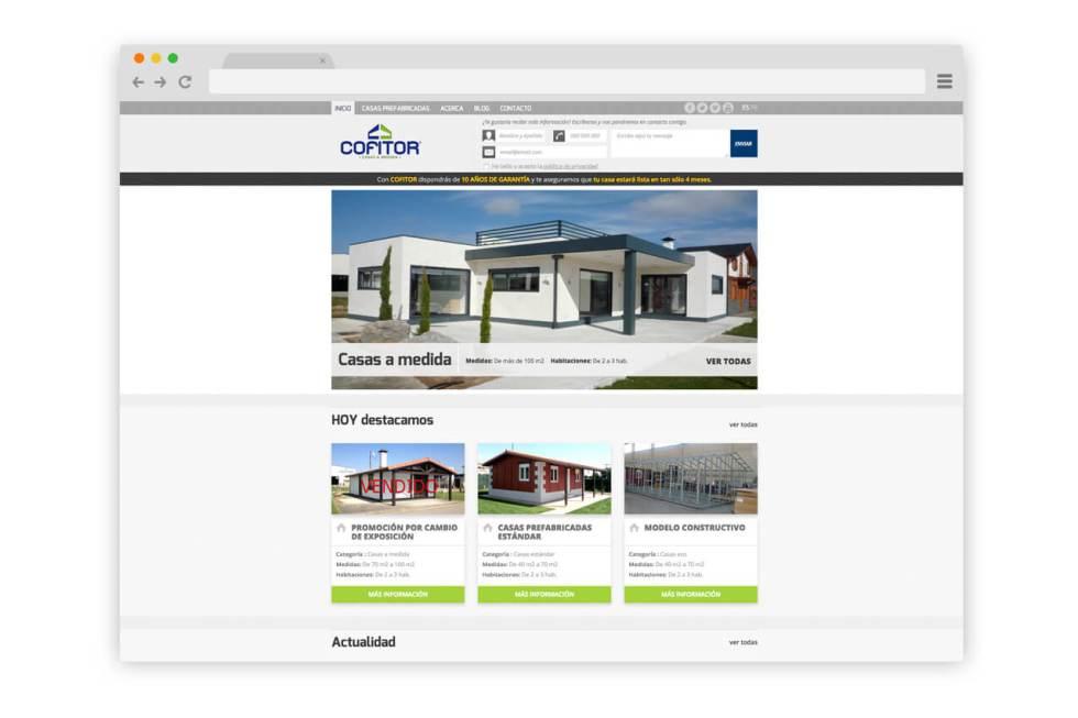 Web Casas Prefabricadas Cofitor