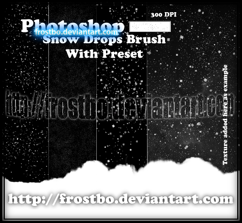 snow drops brush