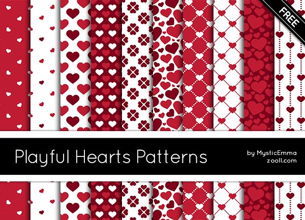 Playful Hearts Patterns
