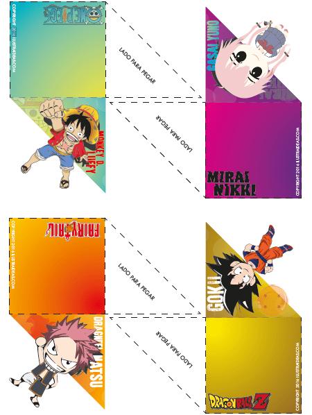 Separadores de libros estilo anime parte 2