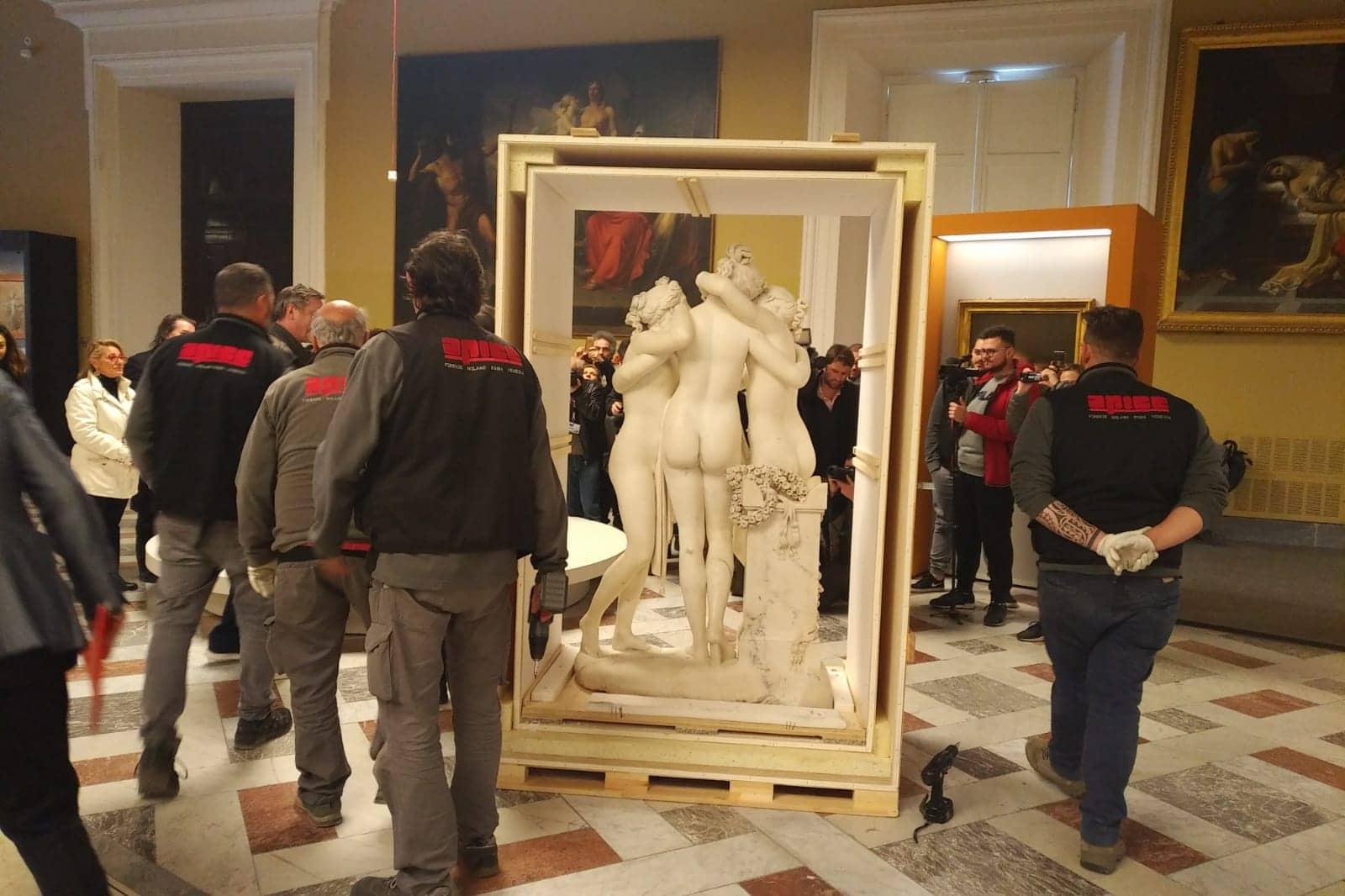 Musei, le Tre Grazie al Mann: ecco le star di Canova
