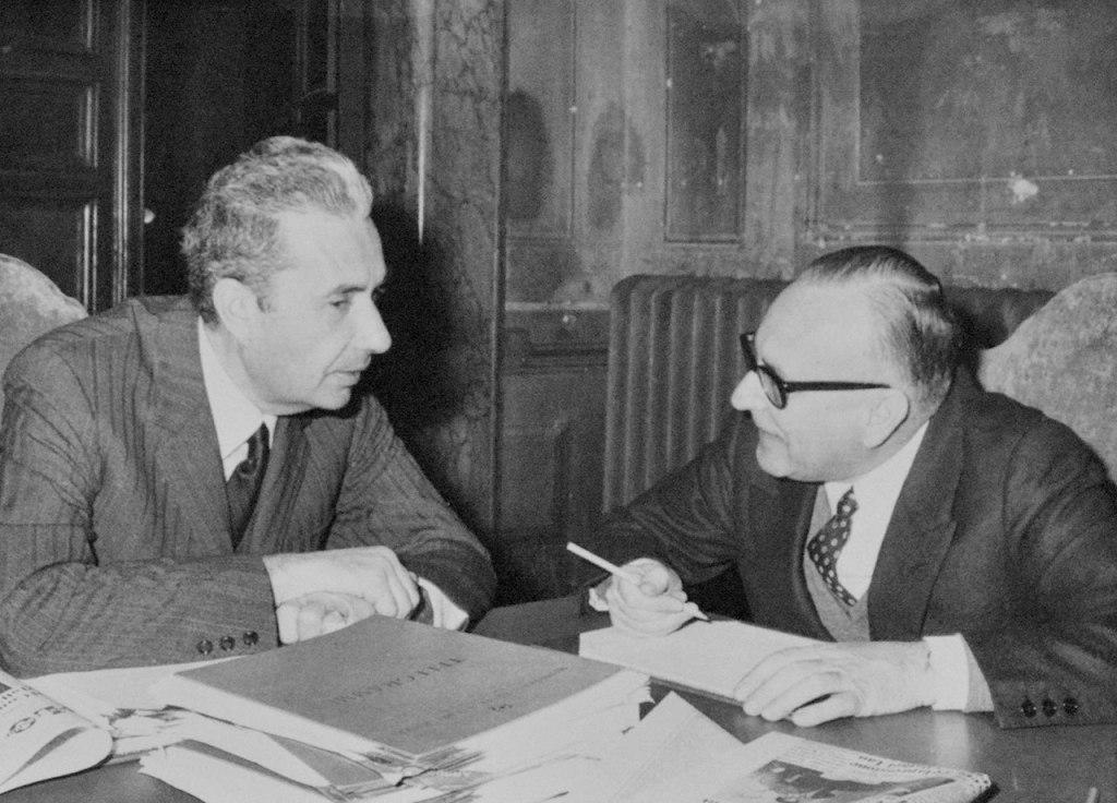 Aldo Moro e Mariano Rumor