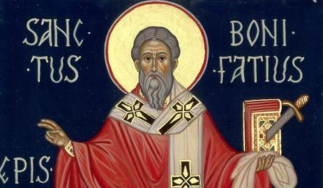 Risultati immagini per San Bonifacio vescovo di Magonza