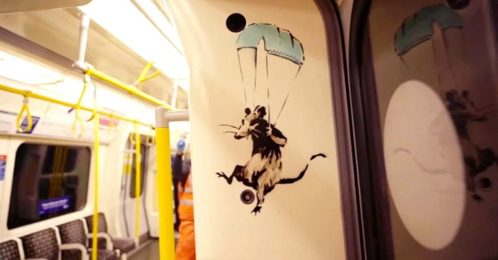 banksy metro londra
