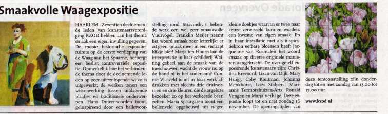 Haarlem dit Weekend Kunstlijn 2014