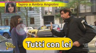 Tutti sostengono Ambra Angiolini e si scagliano contro Striscia la Notizia per averle dato quel tapiro d'oro inopportuno