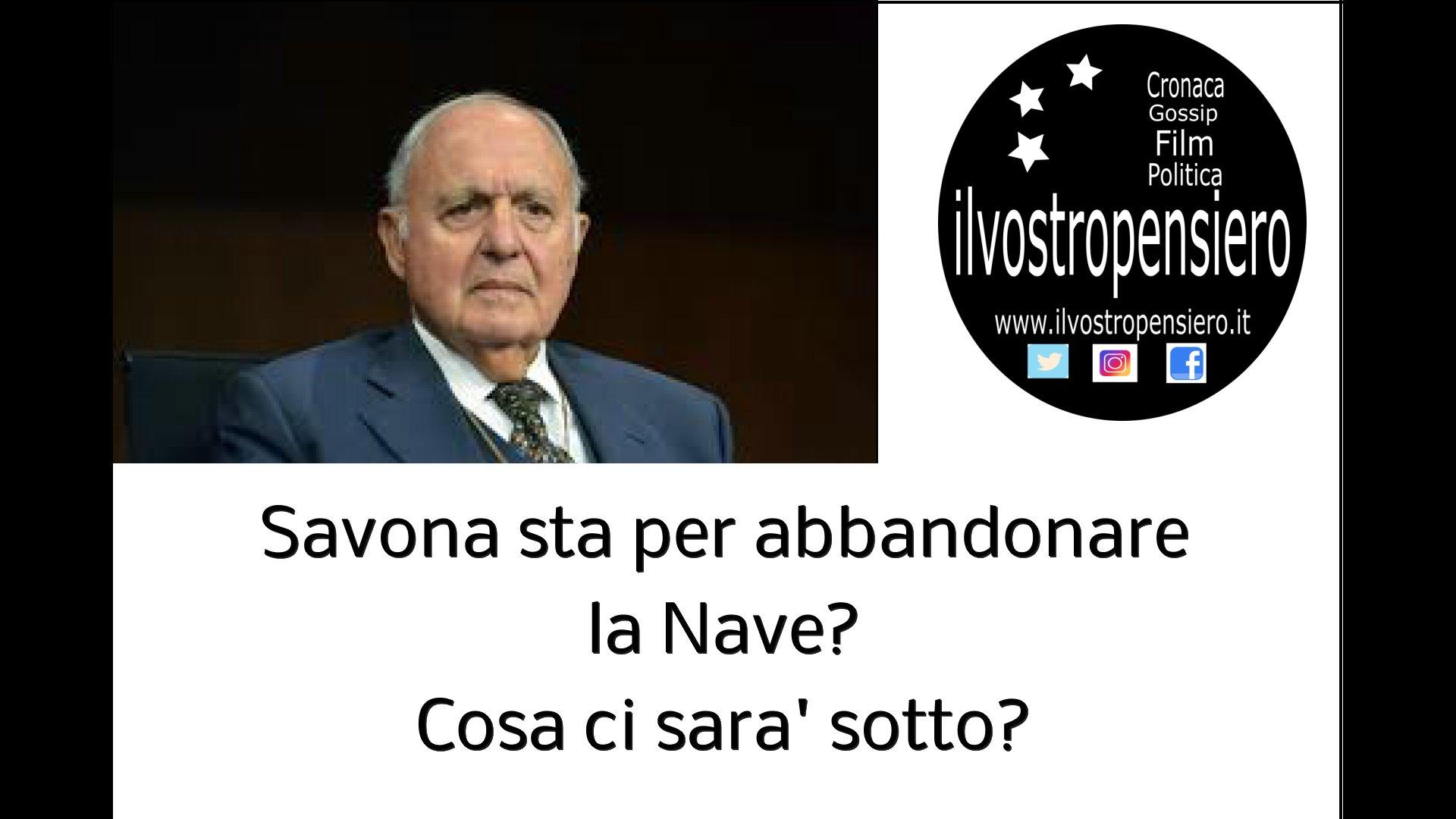 Secondo Mentana le statistiche Europee vedono l'Italia ultima posizione,il Ministro Savona sta per abbandonare la nave?