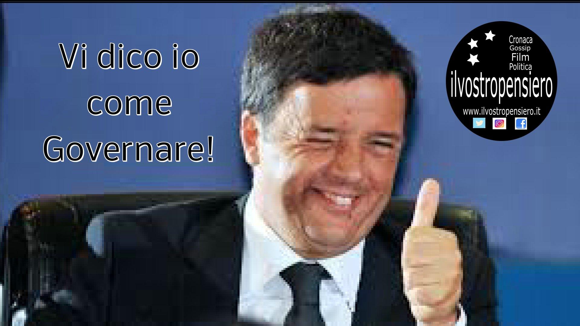 Matteo Renzi e la sua lenzioncina a questo governo