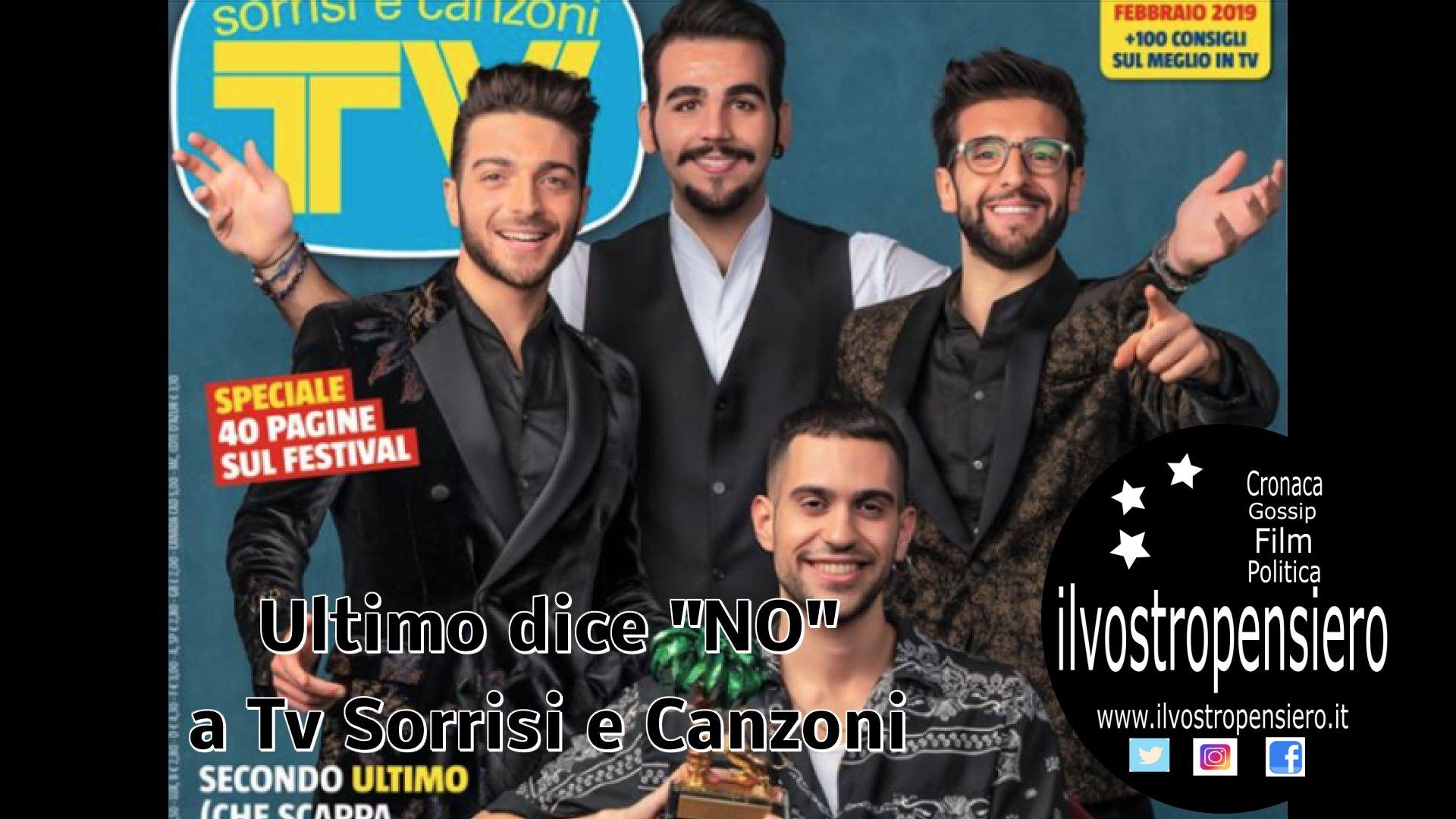Nella copertina di Tv sorrisi e Canzoni manca Ultimo