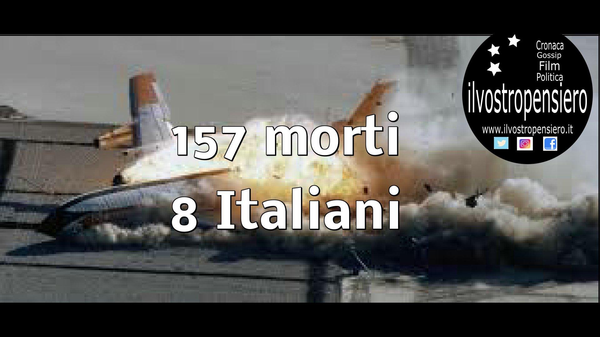 8 italiani tra i 157 morti: Incidente aereo in Etiopia