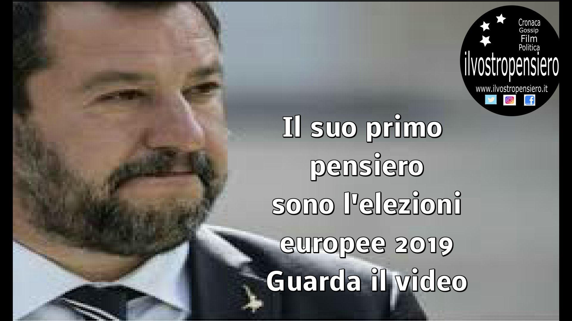 Salvini quando non se ne frega del governo italiano,mettendo in primo suo pensiero l'elezioni Europee(guarda il video)