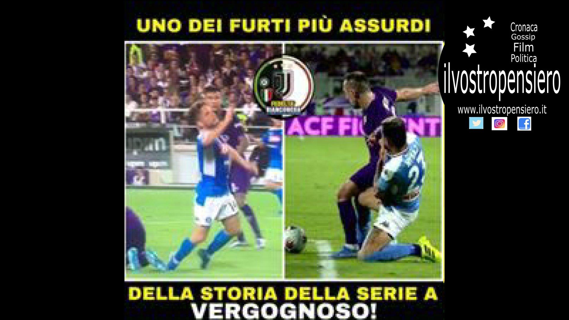 Serie A: Napoli strappa la vittoria alla Fiorentina con un rigore che per tanti tifosi viola non c'era