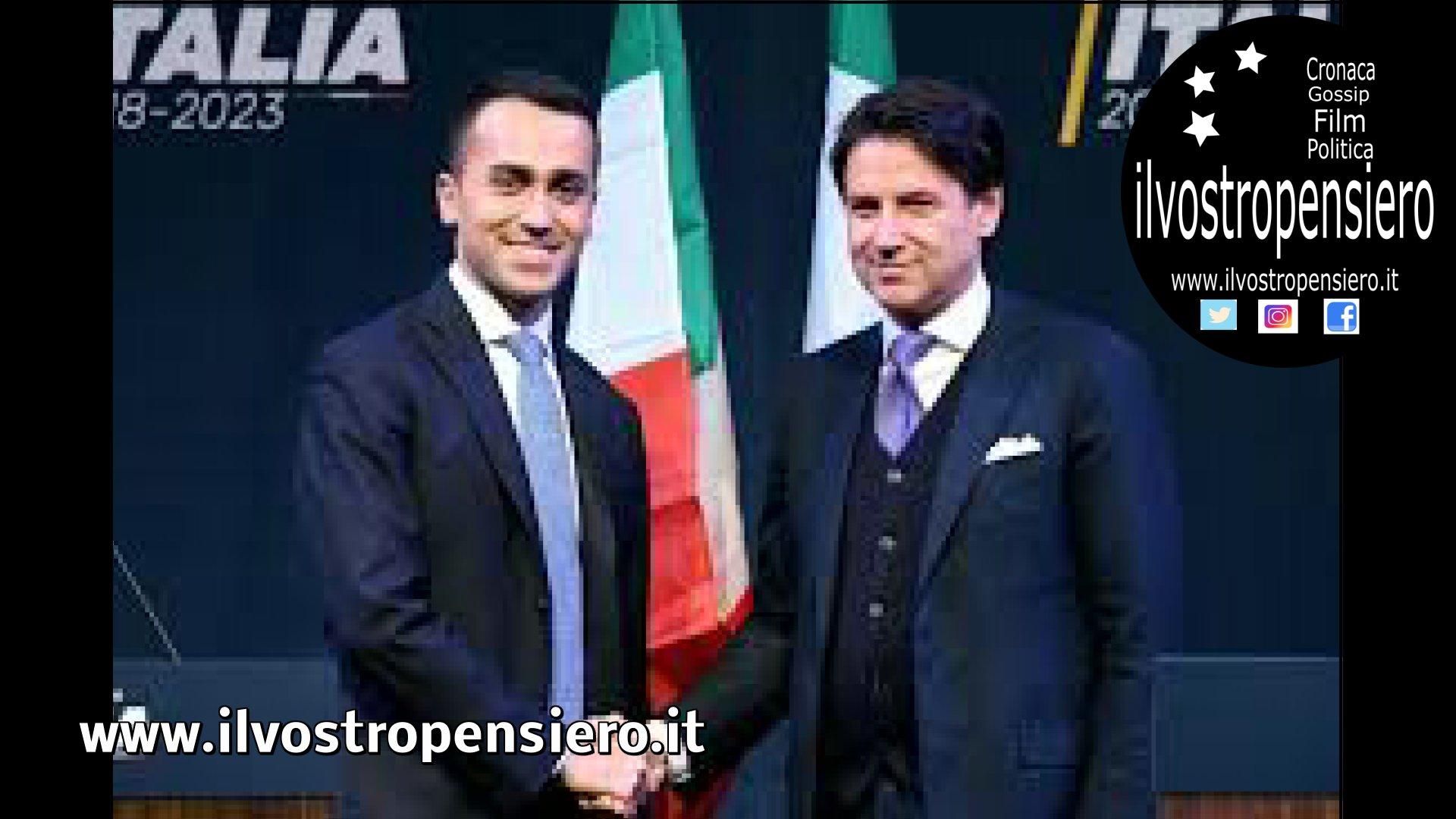 """Luigi Di Maio scrive a Giuseppe Conte un post su Facebook """"Sei una delle scelte di cui vado più fiero nella mia vita. Sei una perla rara, un servitore della Nazione che l'Italia non può perdere. """""""