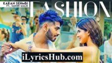 Fashion Lyrics - Karan Sehmbi | Sakshi Malik | Rox A