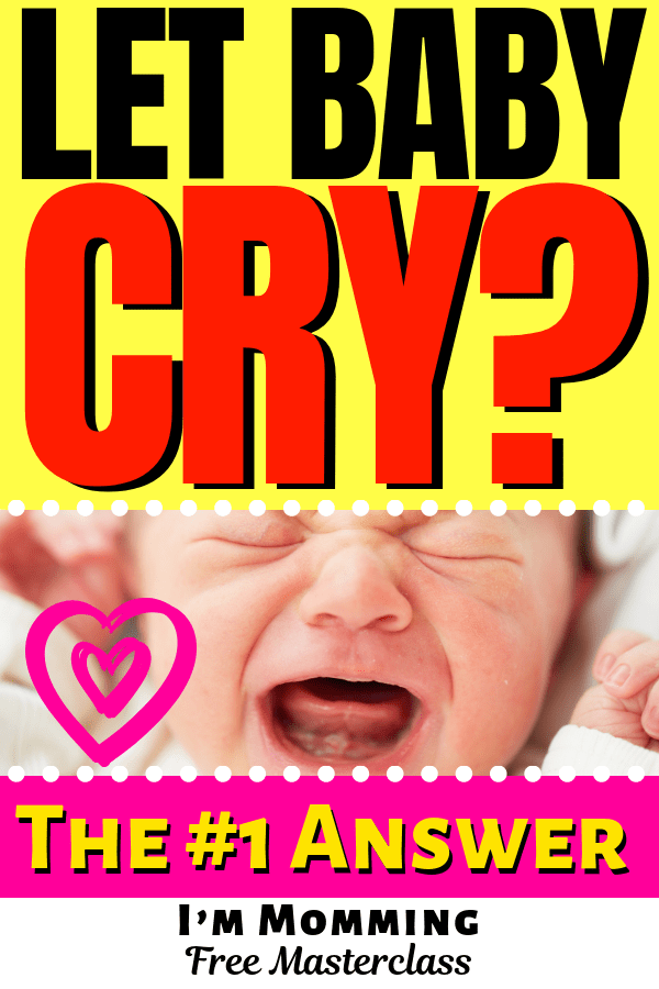 Should you let your baby cry it out? Pick him up when he cries? Click to find out or pin for later! #baby *Top information mommy, mommies, mom life, mom to be, new baby, new mom, kids and parenting, attachment parenting, attatchment parenting, vegan mom, parenting hacks, parenting tips, parenting research, peaceful parenting, gentle parenting, bedsharing, cosleeping, baby cries, baby cry, crying, sids, baby danger, #babyshowerdecorations #momlife #mommies #mom #babyshowergames #babyroom #baby