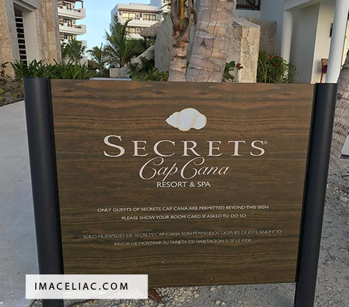 Secrets Cap Cana sign