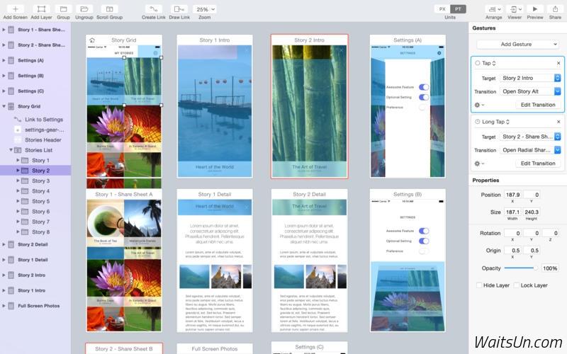Flinto for Mac 1.0.7 破解版 – 强大的移动应用原型设计工具