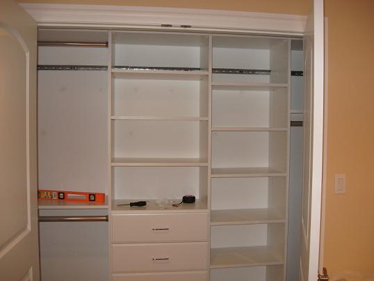 Once All Of The Shelves Are In, The Only Thing Left To Do Is Cover The  Metal Wall Support. EasyClosets Provides A Plastic Covering That You Need  To Cut To ...