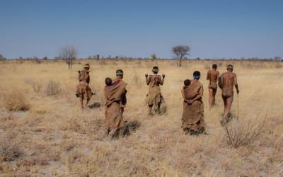 Bushwalk met de San bosjesmannen in de omgeving van Tsumkwe Namibië