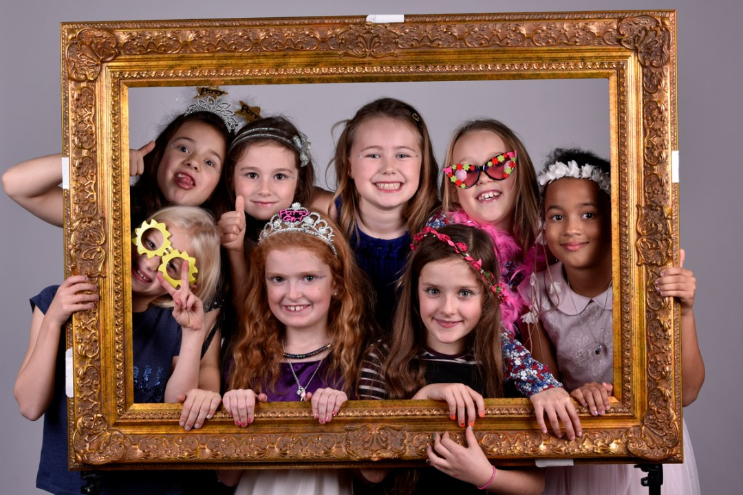 Childrens parties and family fun using our studio frames