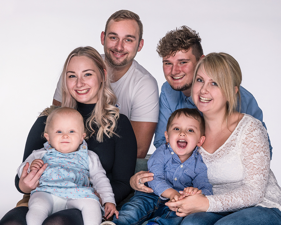 family group photograph taken at peterborough studio