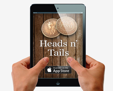 heads and tails-Now available in the app store